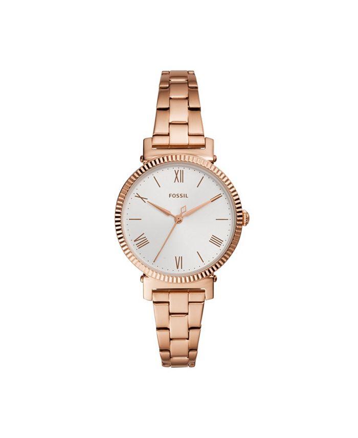 Fossil - Women's Daisy rose Gold-Tone Bracelet Watch ES4791