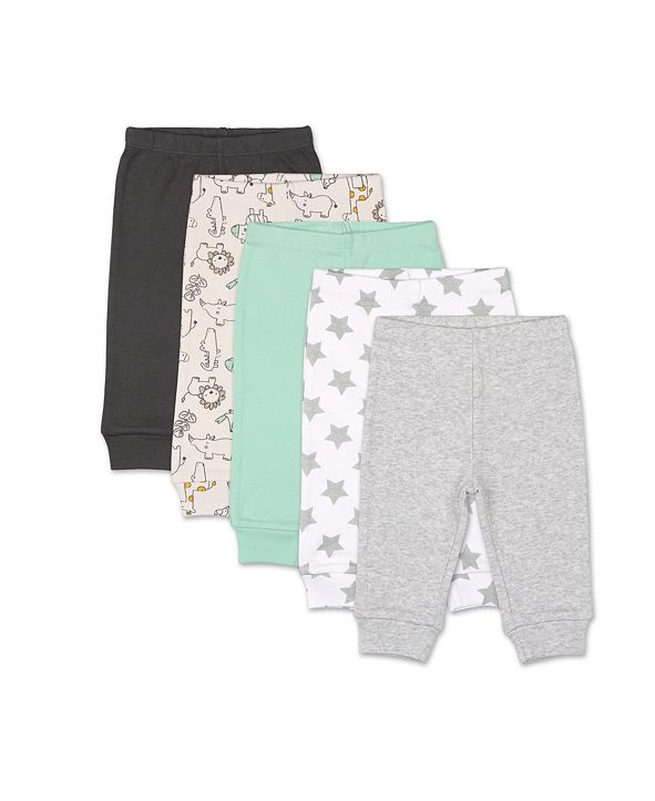 The Peanutshell Baby Boys and Girls Safari 5 Pack Pants