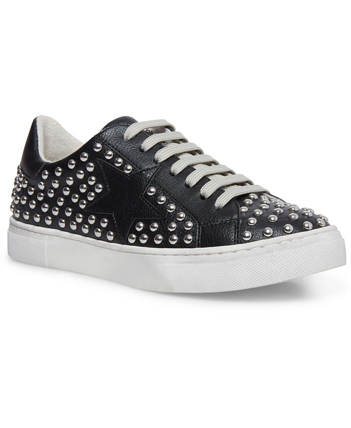 STEVEN NEW YORK - Women's Riled Studded Lace-up Sneakers