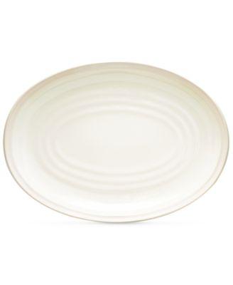Noritake Dinnerware, Colorvara White Oval Platter