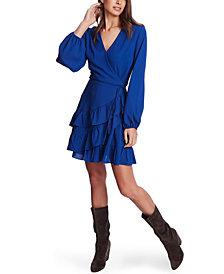 1.STATE Ruffled Wrap Mini Dress