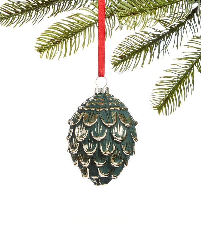 Holiday Lane - Birds & Boughs Molded Glass Pine Ornament