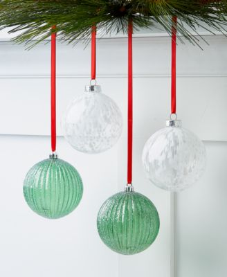 Birds & Boughs Shatterproof Ornaments, Set of 4, Created For Macy's