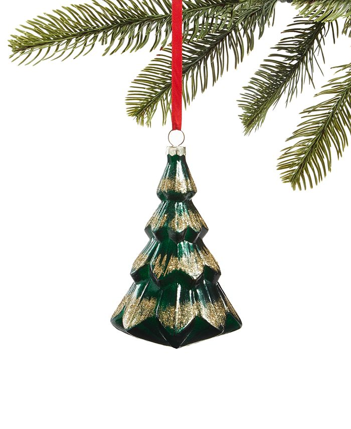 Holiday Lane - Evergreen Dreams Molded Glass Christmas Tree Ornament