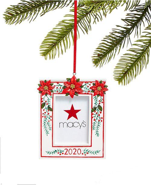 Holiday Lane Santa's Favorites 2020 Poinsettia Picture Frame