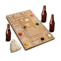 Deals on Hammer + Axe Game Wood Drinkopoly Board