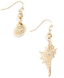 Zenzii Gold-Tone Shell Drop Earrings