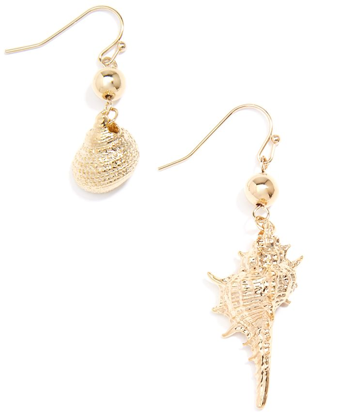 Zenzii - Gold-Tone Shell Drop Earrings