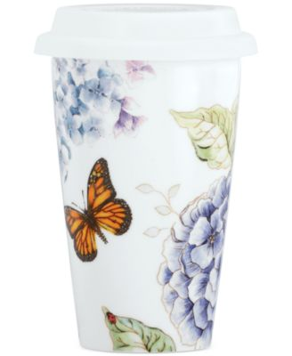 Lenox Butterfly Meadow Blue Thermal Travel Mug