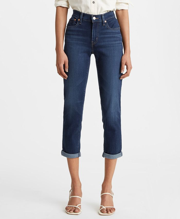 Levi's - New Boyfriend Distressed Tapered-Leg Jeans