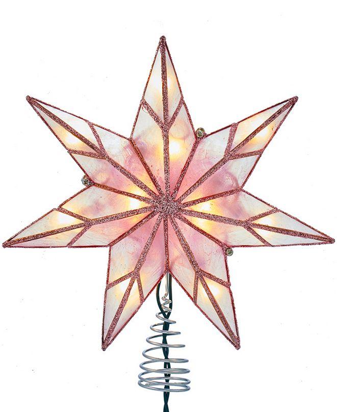 Kurt Adler 10-Light 7-Point Capiz Star Treetop