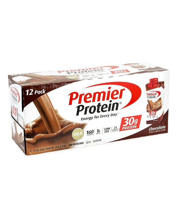 Premier Protein Chocolate Protein Shake, 11 oz, 12 Count