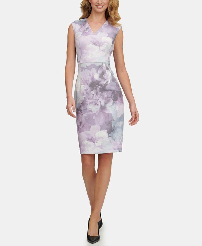 Calvin Klein - Floral-Print Sheath Dress