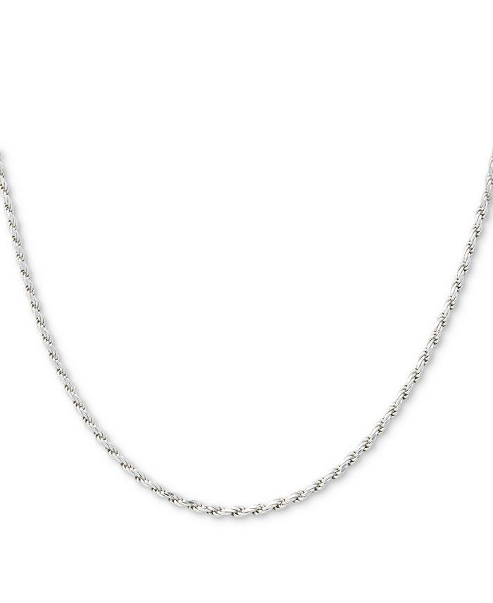 "Giani Bernini - Sterling Silver Necklace, 24"" Diamond Cut Rope Chain"