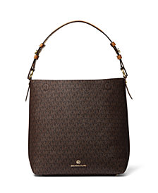MICHAEL Michael Kors Signature Lucy Medium Hobo Shoulder Bag
