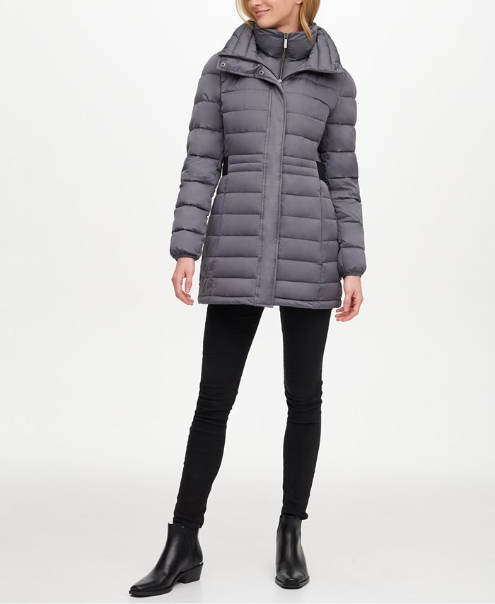 DKNY - Hooded Packable Puffer Coat