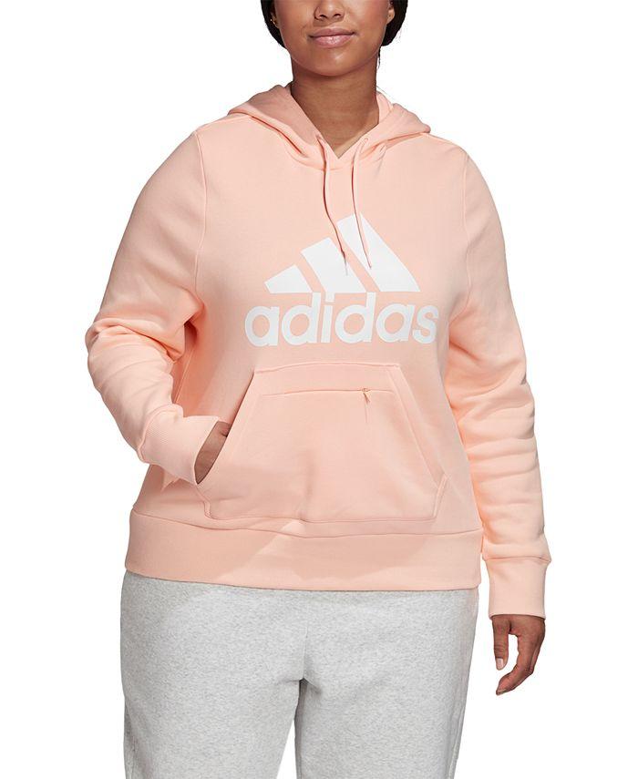 adidas - Plus Size Logo Hooded Sweatshirt