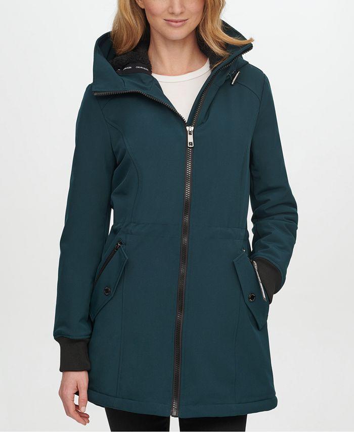 Calvin Klein - Fleece-Lined Hooded Anorak Raincoat