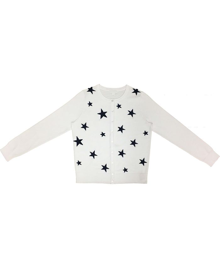Charter Club - Star-Front Button Cardigan