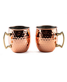 Thirstystone by Cambridge 2 Pack Of 20 Oz Faceted Copper Moscow Mule Mugs