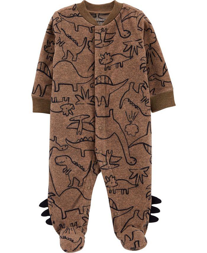 Carter's - Baby Boy Dinosaur Snap-Up Fleece Sleep & Play