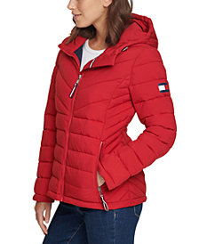 Tommy Hilfiger Hooded Packable Puffer Coat