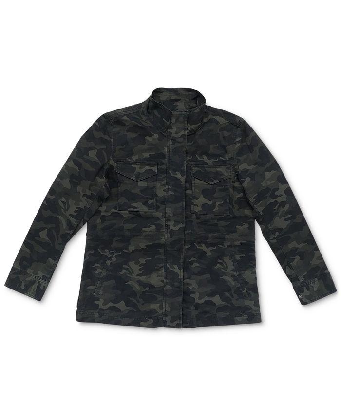 Style & Co - Cotton Camo-Print Utility Jacket