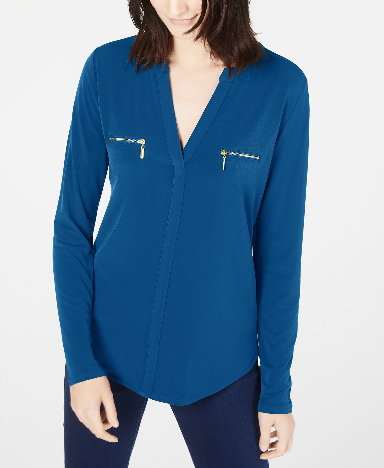 INC International Concepts INC Zip-Pocket Blouse, Created for Macy's
