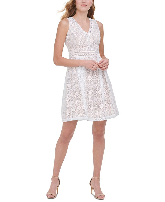 kensie - Medallion Lace Dress