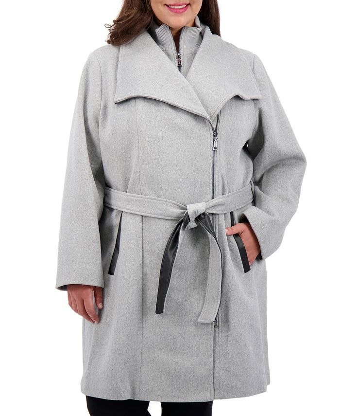 Vince Camuto - Plus Size Belted Wrap Coat