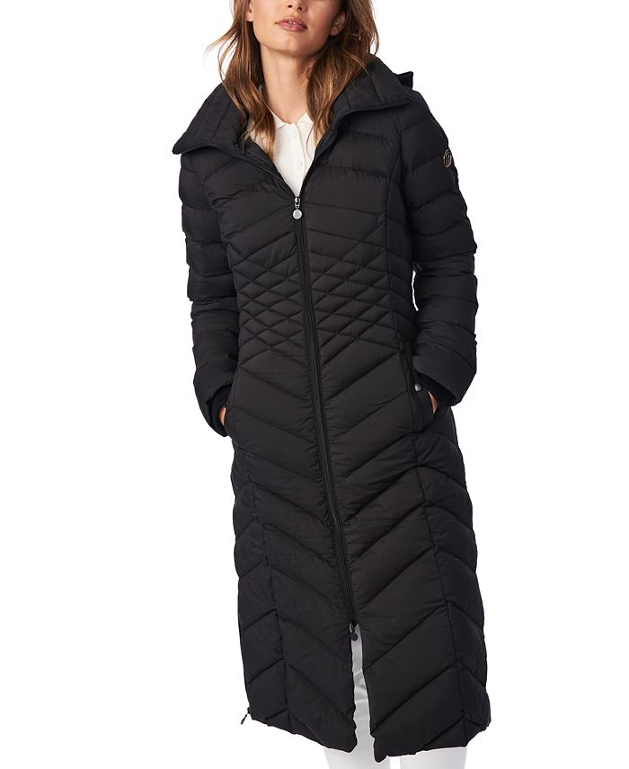Bernardo - Hooded Maxi Puffer Coat