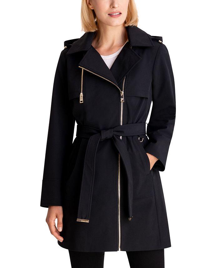 Michael Kors - Asymmetrical Hooded Raincoat