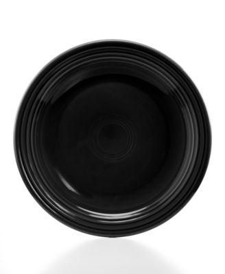 """Fiesta Black 10.5"""" Dinner Plate"""