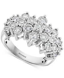 EFFY® Diamond Cluster Ring (1 ct. t.w.) in 14k White Gold or 14k Yellow & White Gold