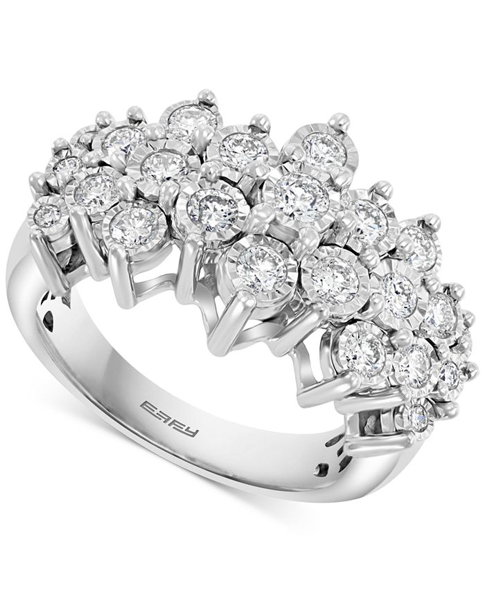 EFFY Collection - Diamond Cluster Ring (1 ct. t.w.) in 14k White Gold or 14k Yellow & White Gold