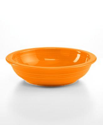 Fiesta Tangerine Individual Pasta Bowl