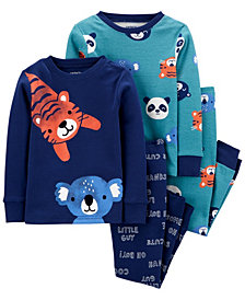 Carter's Baby Boy  4-Piece Animals Snug Fit Cotton PJs