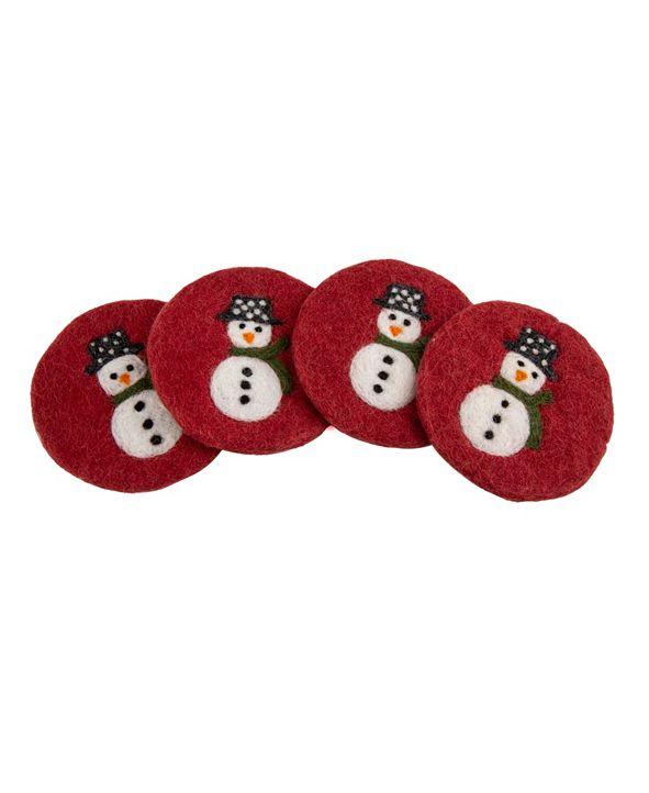 Thirstystone Wool Snowman Coasters - set of 4