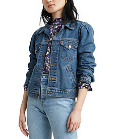 Levi's® Cotton Puff-Sleeve Denim Trucker Jacket