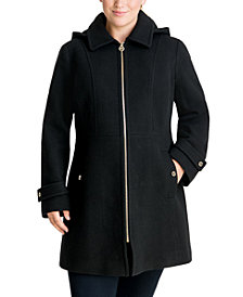 Michael Michael Kors Plus Size Hooded Coat, Created for Macy's