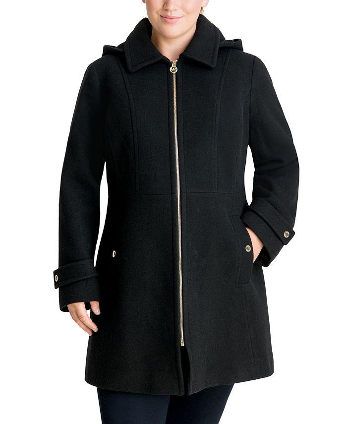 Michael Kors - Plus Size Hooded Coat