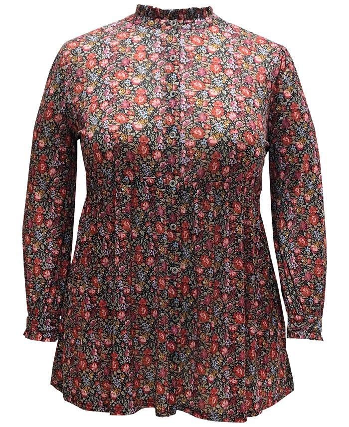 Style & Co - Plus Size Floral-Print Shirt