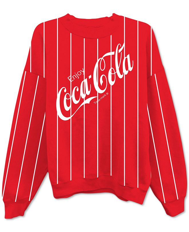 Freeze 24-7 Juniors' Coca-Cola Striped Sweatshirt