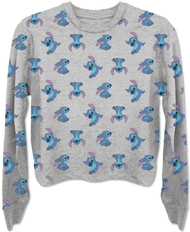 Disney Juniors' Stitch Long Sleeve T-Shirt