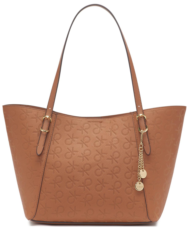 Macy's: Calvin Klein Denver Logo Tote @ .13 + Free shipping