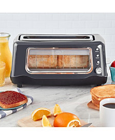 Dash Clear View Toaster, Gray