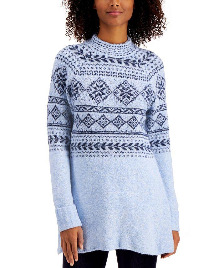 Style & Co - Fair-Isle Tunic Sweater