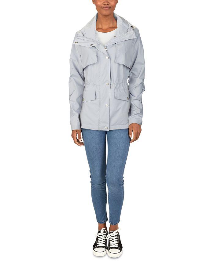 Cole Haan - Packable Hooded Anorak Raincoat