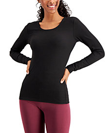 32 Degrees Base Layer Ribbed Scoop-Neck Top