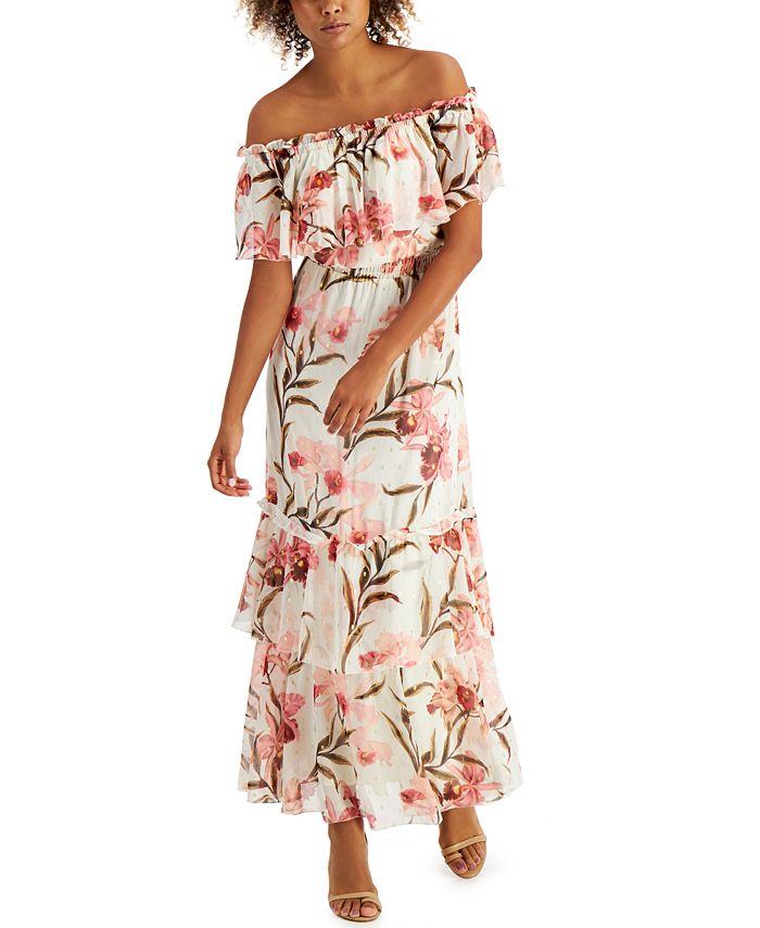 Inc International Concepts Inc Elizabeth Make A Wish Off The Shoulder Maxi Dress Created For Macy S Reviews Dresses Women Macy S